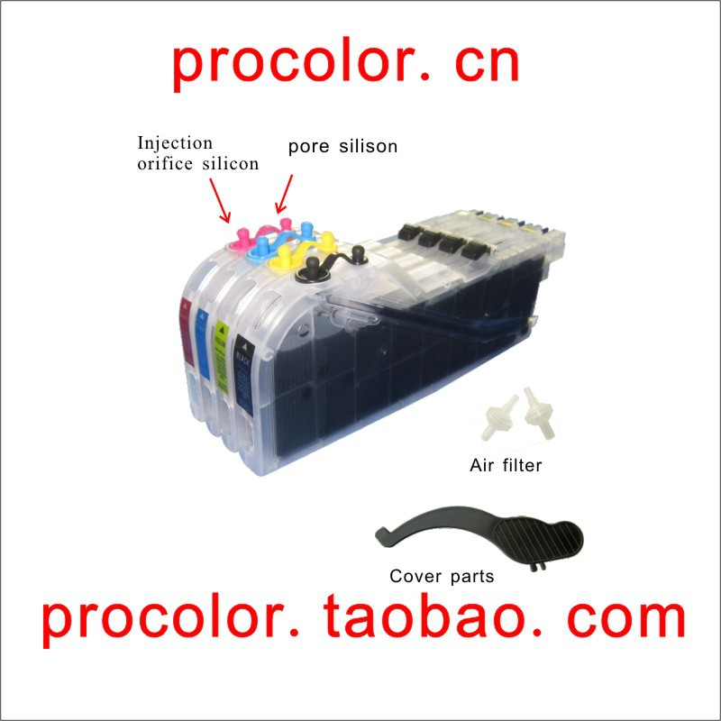 ФОТО PROCOLOR Newest long refill inkjet cartridge LC131 LC133 With ARC chips for BROTHER MFC-J475DW/MFC-J650DW/MFC-J870DW/J470DW...