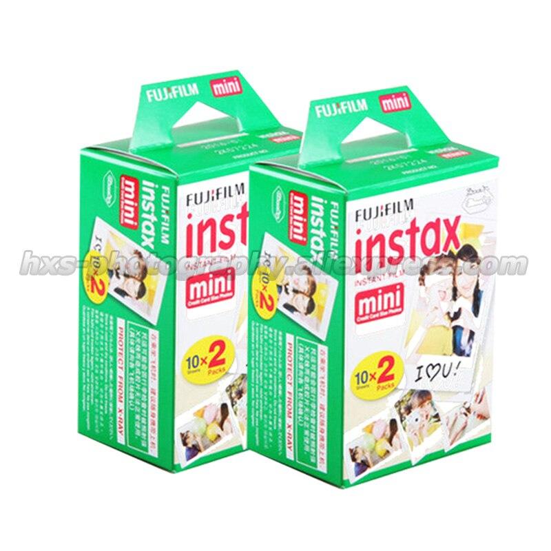 100% D'origine Fuji Fujifilm Instax Mini 9 8 Film Blanc 2 Packs 40 feuilles 3 Pouce Film Pour 7 s 8 90 25 55 Part SP-1 Instant caméra