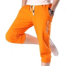 2017 Hot Sale Summer Fashion Casual Loose Mens Cropped Short Pants Sweatpants Jogger Shorts Men AYG221