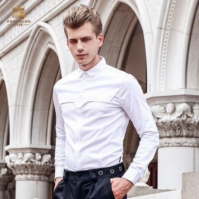 Freie Verschiffen Neue mode männlichen männer mann langärmelige ...
