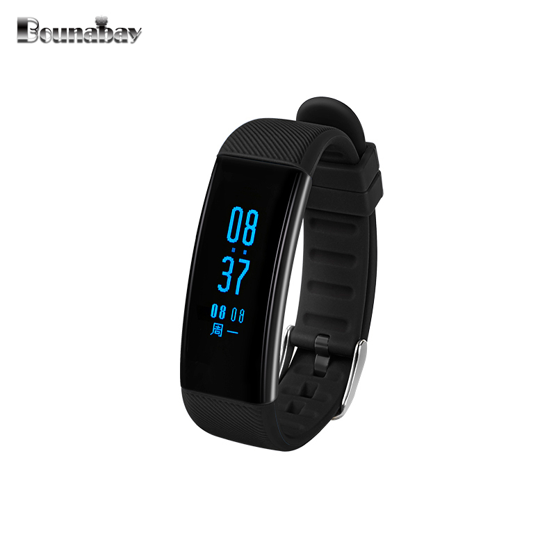 BOUNABAY Smart Sport Bracelet watch for women Bluetooth apple Android ios phone ladies clock woman touch clocks man's watches dm98 smart watch gps wifi waterproof sim card mp3 music bluetooth answer call for android ios phone sport fitnesstracker watches