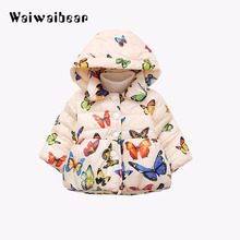 Children Outerwear Coat Winter Baby Jackets Coat Infant Warm Baby Parkas Thick Kids Hooded Clothes For Girls baby girls denim jackets coat fur hooded parkas plus thick winter warm children outerwear long clothes kids clothing q2069