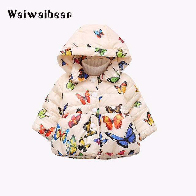 Cheap Children Outerwear Coat Winter Baby Jackets Coat Infant Warm Baby Parkas Thick Kids Hooded Clothes For Girls
