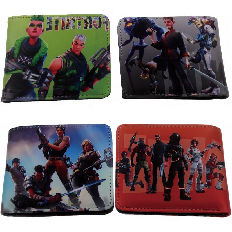 10/20/50/100pcs Fortnite Battle Royale Wallet Short Purse Coin Bag Cartoon Card Bag Figure Toys Kid's Party Gift Wholesale DHL battle royale