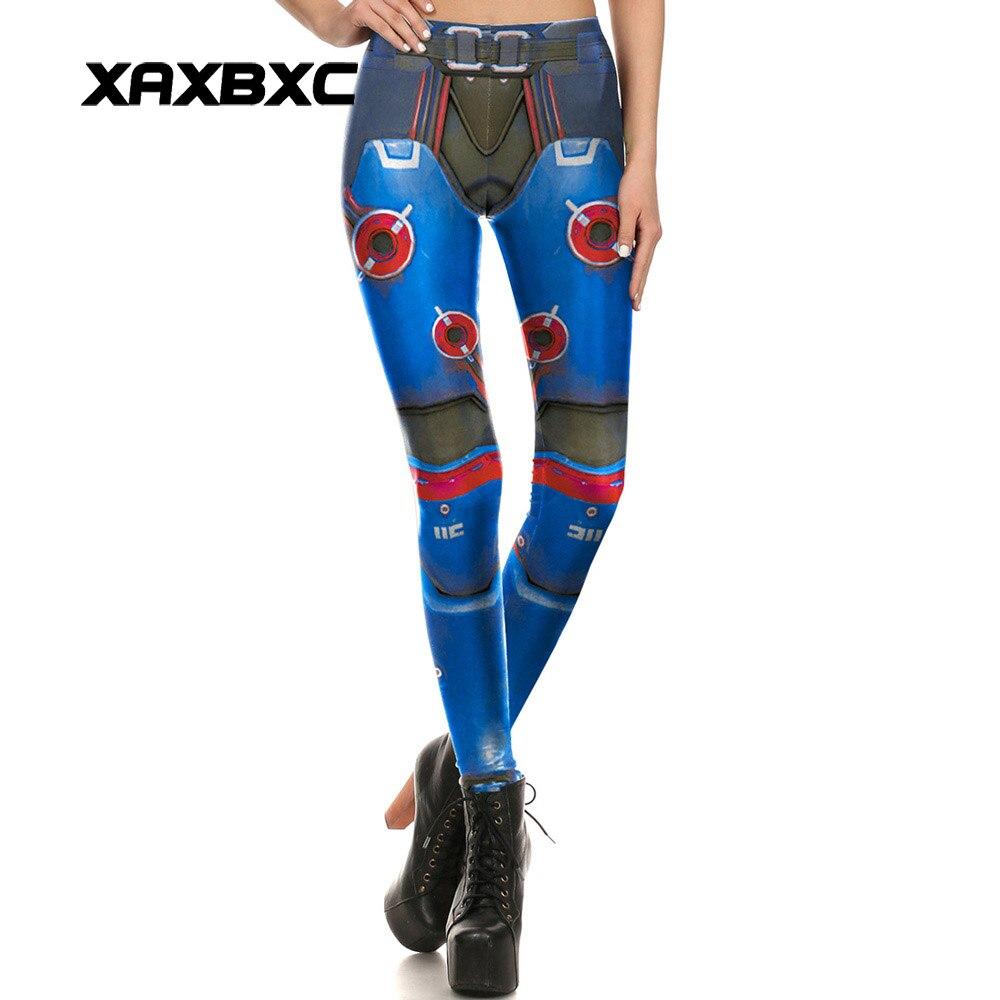 1680 Sexy Girl leggins Blizzard OW Game Tank Zarya Mecha Printed Polyester Elastic Slim Fitness Women Leggings Pants Trousers