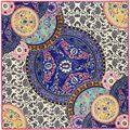 100% саржевые шелковый евро марка китайский синий и белый шарфы итальянский дворец ретро большой тяжелый саржевого шарф шаль косынка