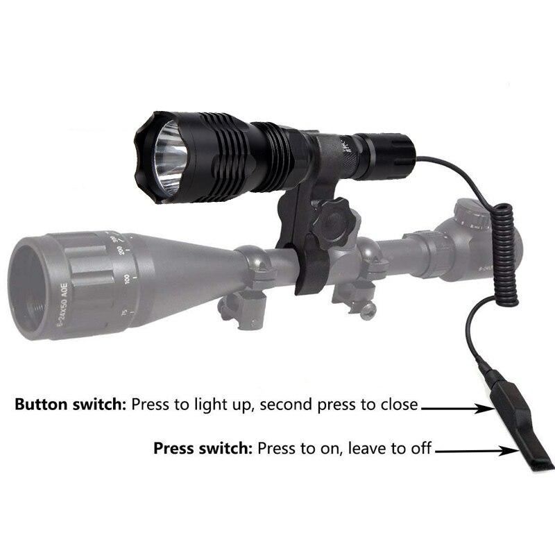 caca tocha trilho 20mm airsoft rifle escopo montar arma scout luz 05