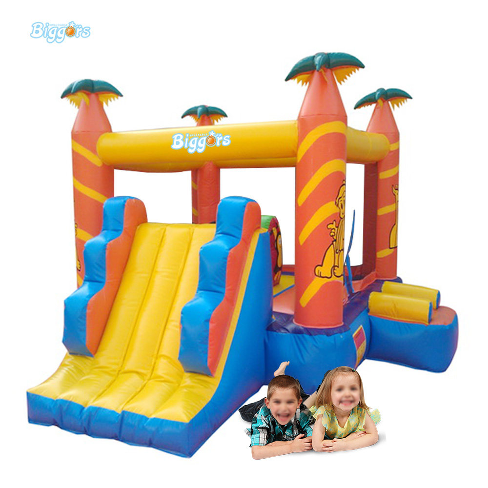 Tropical Inflatable Bounce House Bouncer Game Party Bouncy House For Kids oxford cloth inflatable crayon bouncer commercial bounce houses inflatable crayon bounce house