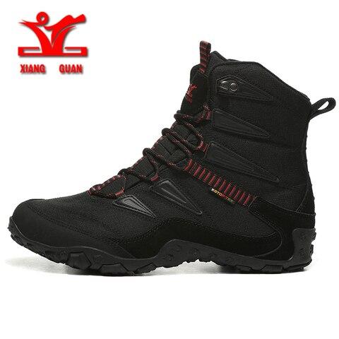 XIANGGUAN Winter Men Hiking Shoes Wool Lining Snow Boots Outdoor Hunting Boots Waterproof Mountaine Shoes Men Climbing Shoes man Karachi