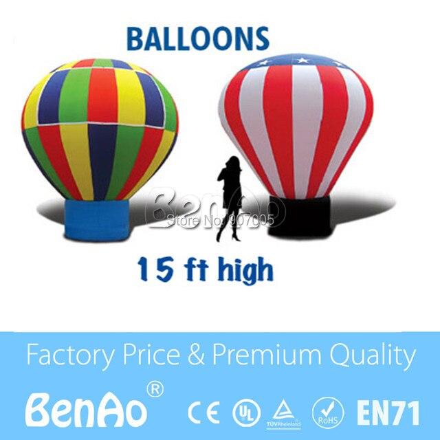 AD009 Лучшее качество дешевые цены надувные землю воздушный шар для рекламы