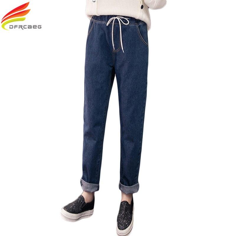 S-5XL New 2017 Autumn Boyfriend Jeans For Women Loose Plus Size Harem Pants Denim Jeans Femme High Elastic Waist Calca Feminina 2017 jeans women denim pants elastic waist casual trousers plus size s 5xl fashion high waist pencil harem pants jeans femme