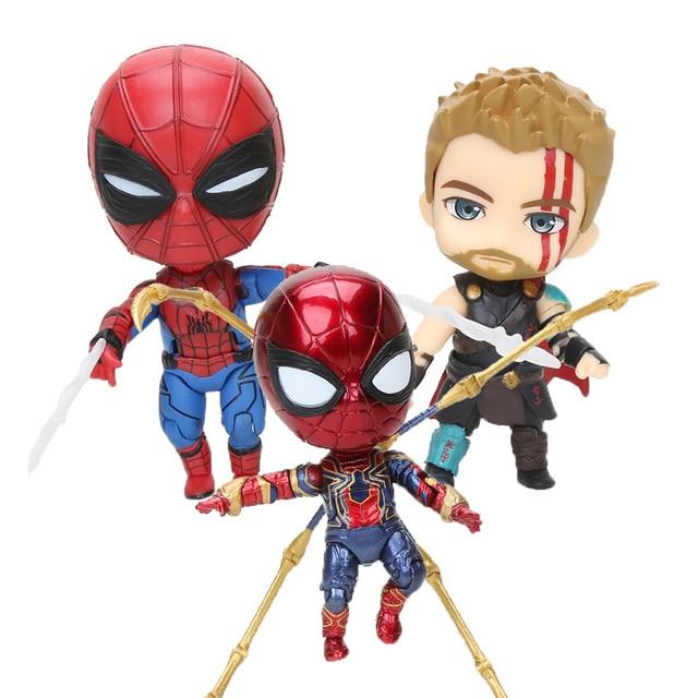 4 pçs/set 10 centímetros Vingadores Capitão Marvel Figuras Carol Danvers Fim Do Jogo Figuras de Ação PVC Figuras Coleção Modelo Toy Presente