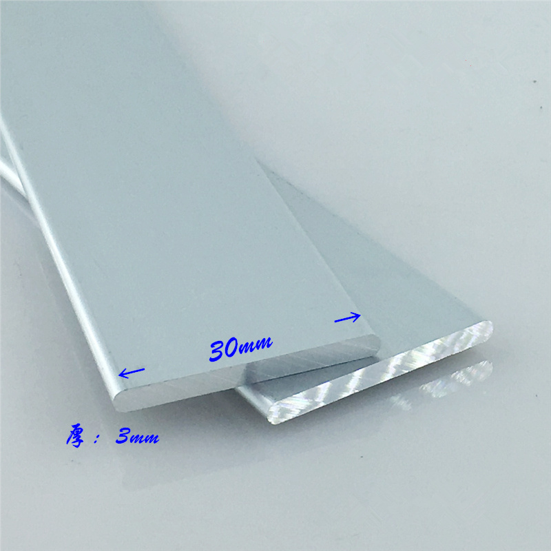 Aluminium Alloy Plate 3mmx30mm Round Corner Aluminum 6063-T5 Oxidation Width 30mm Thickness 3mm Length 100mm 1pcs