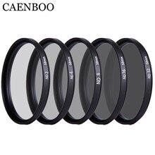CAENBOO 37 40,5 43 46 49 52 55 58 62 67 72 77 82mm objektiv ND Filter ND2 4 8 16 32 Len Protector Neutral Density Objektiv filter kamera