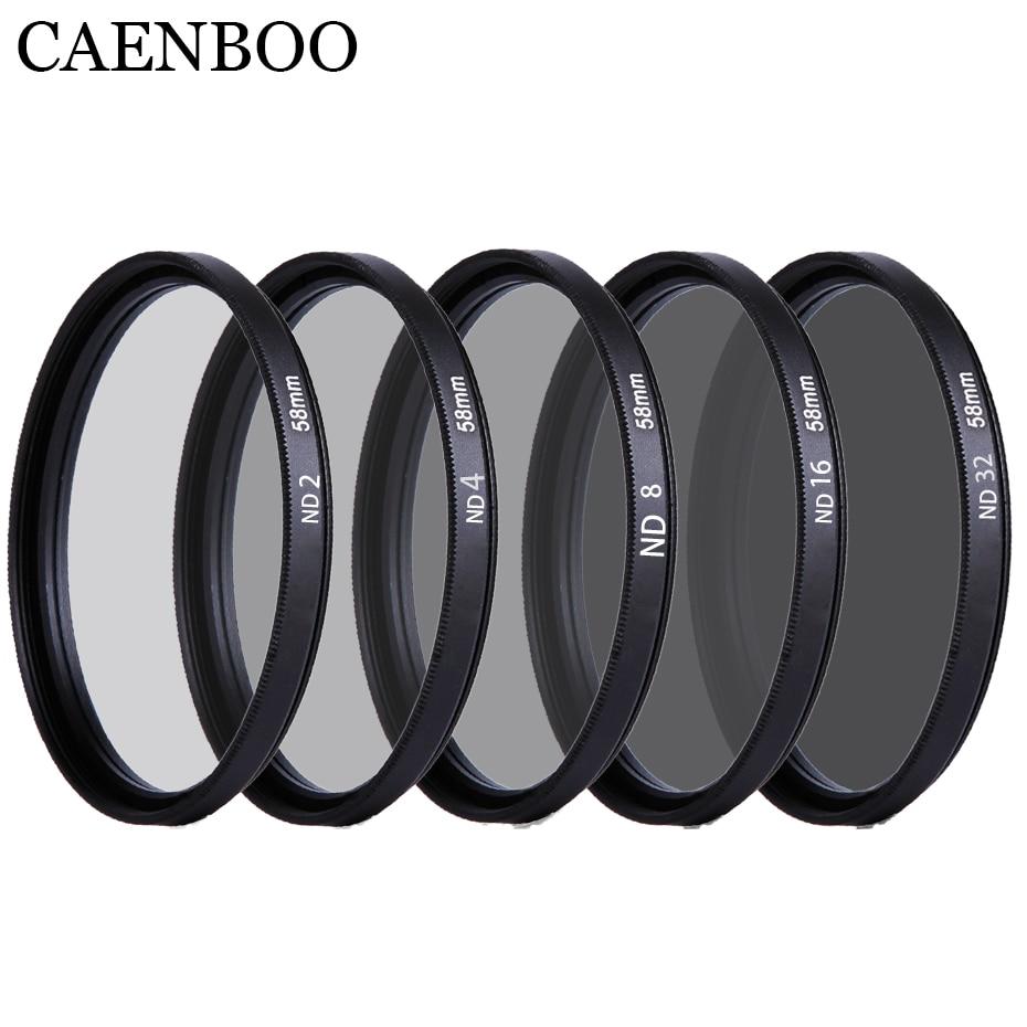 CAENBOO 37 40.5 43 46 49 52 55 58 62 67 72 77 82mm Lens ND Filter ND2 4 8 16 32 Len Protector Neutral Density Lens Filter Camera