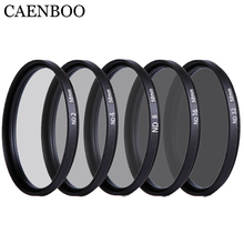 Caenboo 37 40.5 43 46 49 52 55 58 62 67 72 77 82mm lente nd filtro nd2 4 8 16 32 len protetor lente densidade neutra filtro câmera