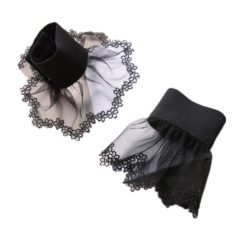 MIARA L 2019 high quality and new products lace delay fake sleeves coat accessories ladies fake cuffs for fashion ladies retail in Women 39 s Arm Warmers from Apparel Accessories