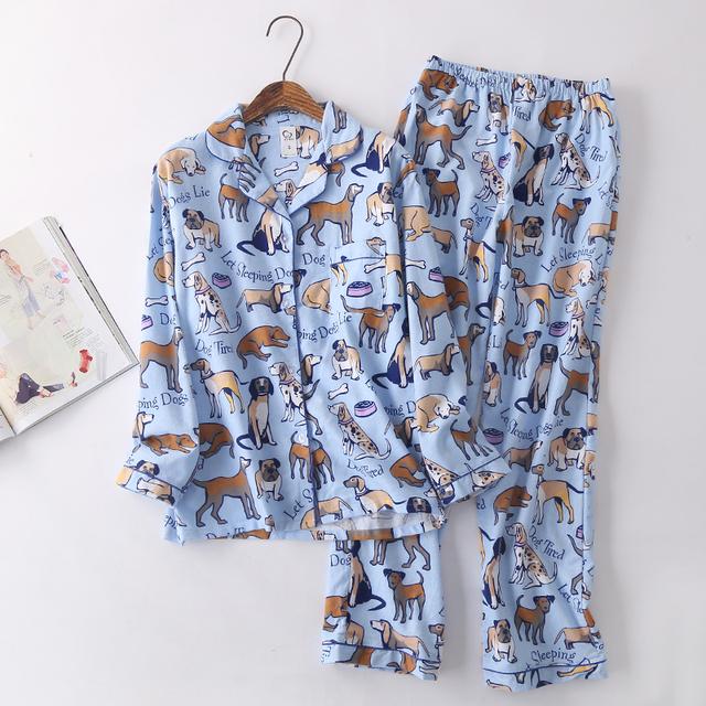 Men's funky cartoon pajamas set