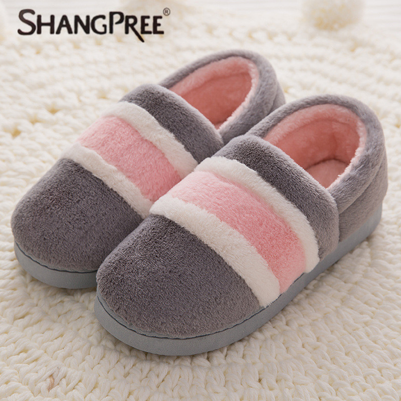 New Women Winter Warm thick Slippers Women Slippers Cotton Sheep Lovers Home Slippers Indoor House Shoes Woman wholesale new new men women soft warm indoor slippers cotton sandal house home anti slip shoes
