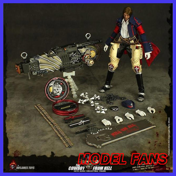MODEL FANS Inflames Toys GUNGRAVE 35cm height 1/6 cowboy from hell action figure toy for Collection gothic vampires from hell