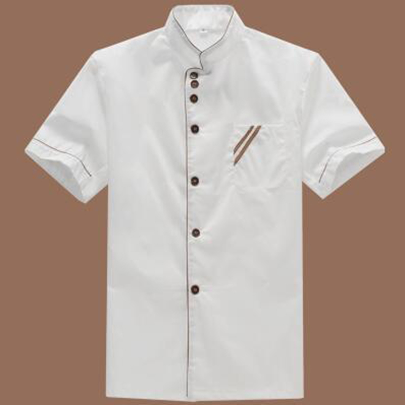 New Arrived Men Chef Jacket Women Short Sleeve Hotel Kitchen Kochjacke Coffee Cake Shop Gorro Cocinero For Food Service