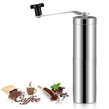 Paslanmaz çelik kahve değirmenleri manuel kahve değirmeni mısır kahve makinesi ayarlanabilir kahve değirmeni makinesi taşınabili...