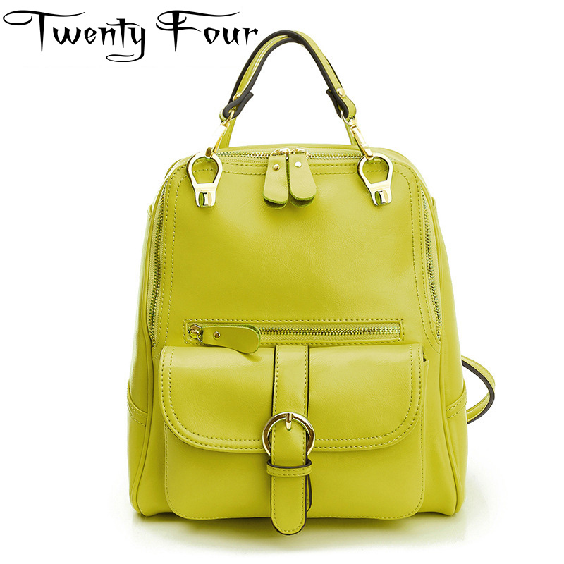 Twenty-four New Fashion Backpack Women Backpacks Solid Vintage Ladies School Bags Teenage Girls Casual Bags Female Shoulder Bags new brand designer women fashion backpacks simple koran style school for teenager girls ladies shoulder bags black