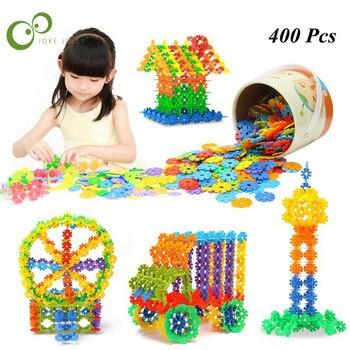 Rompecabezas 3D de 400 Uds., rompecabezas copo de nieve de plástico, construcción de rompecabezas de construcción de modelos, juguetes educativos de inteligencia para niños WYQ
