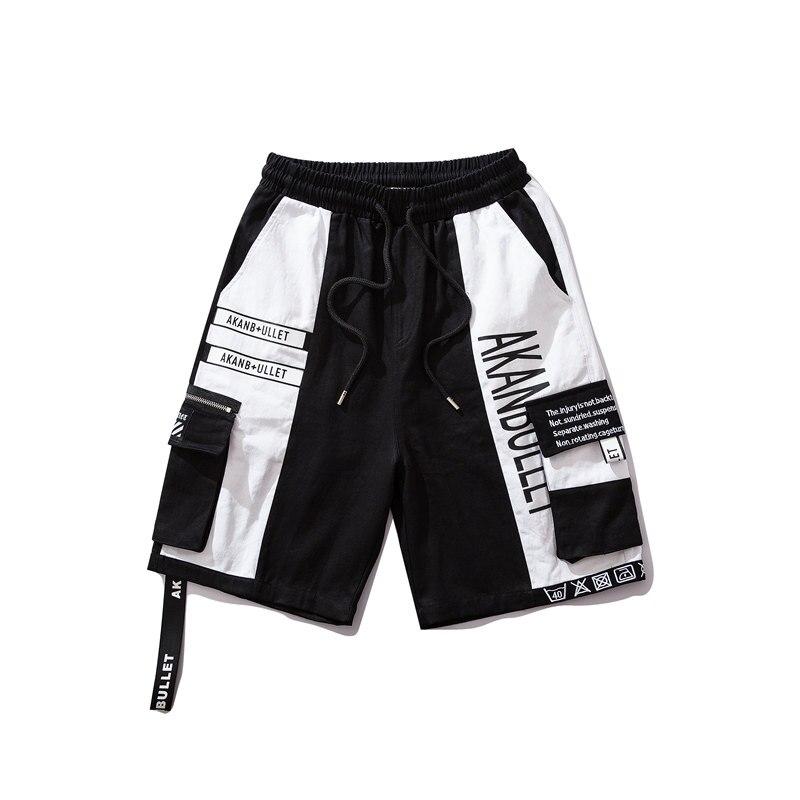 Loose Pockets Men Shorts Hip Hop Casual Black Streetwear Shorts Korean Fashion Short Feminino Sweatpants Harajuku Summer S6T248