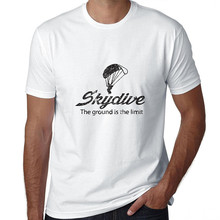 Personalized T Shirts Crew Neck Casual Short Mens Hilarious Sky Dive The Ground Is Limit Skydiving Tee