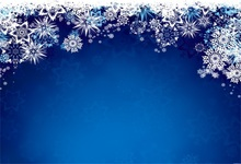 Laeacco Snowflake Gradient Blue Pattern Baby Child Portrait Photo Backgrounds Customized Photographic Backdrops For Studio