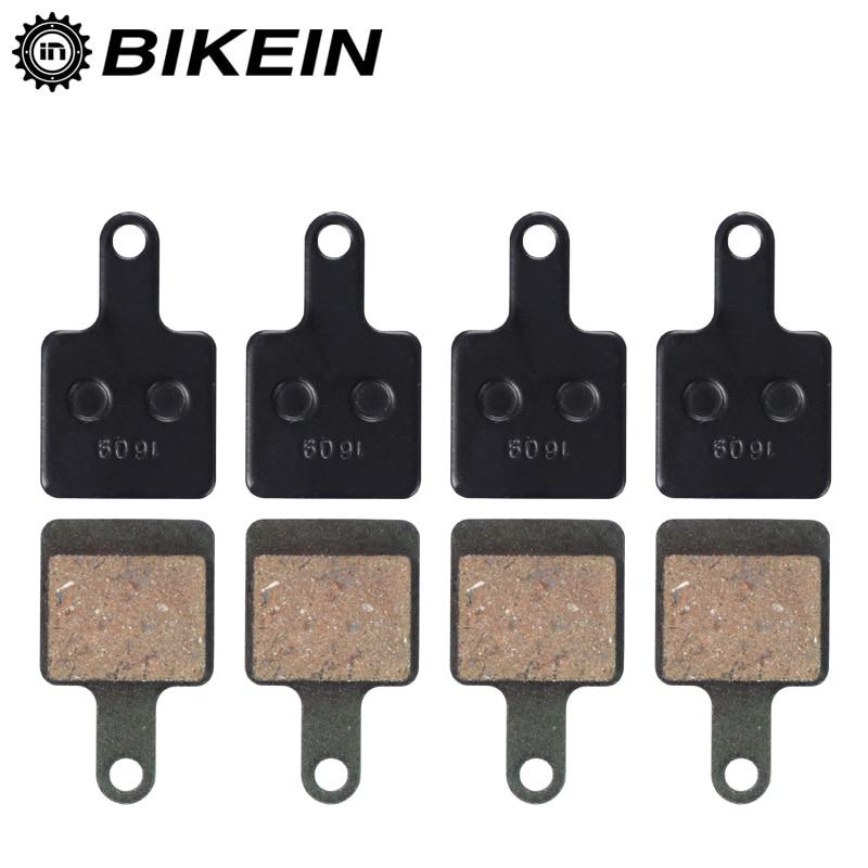 BIKEIN 4 Pairs Bicycle Disc Brake Pads For TEKTRO Volans/Auriga TwinAuriga SUB/Auriga E-SUB SUNTOUR MTB Resin Hydraulic Pads
