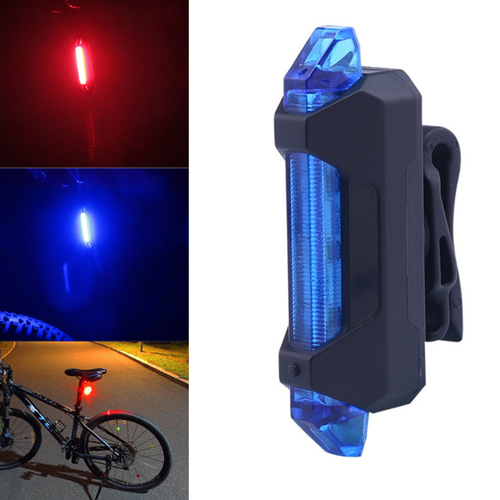 737f1ae1824 USB Rechargeable Bicycle Light Front Tail Set Head Back Bike Flashing  Safety Warning Lamp ASD88