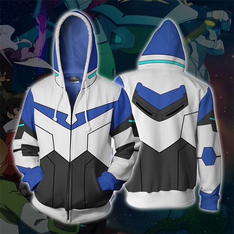 Voltron Legendary Defender 3D Print Hoodies Sweatshirts Cosplay Hooded Casual Coat Jacket