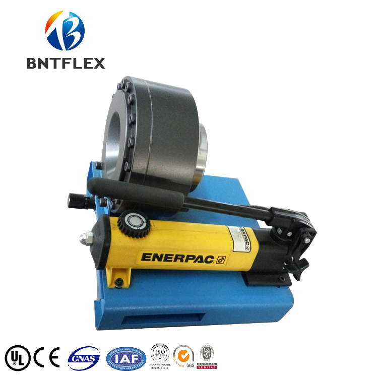 1 inch R2 hydraulic hose BNT30A Enerpac hand pump portable hydraulic press with 7 dies in Hydraulic Tools from Tools