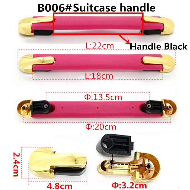 eaa66a7edcbf Replacement Trolley Luggage Repair Parts Handles Suitcase ...