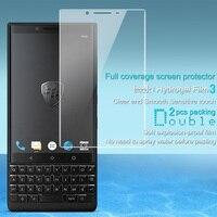 2 stks Volledige dekking voor Blackberry Key2 Screen protector Imak Hydrogel Film voor Blackberry Keytwo Sleutel twee Sleutel 2 zachte en gebogen