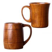 ENERGE SPRING 2 style Natural Jujube Wooden Cup With Handle big tea cup coffee mug