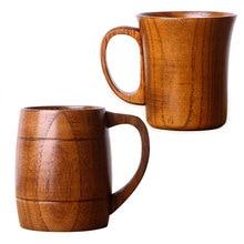 ENERGE SPRING 2 style Natural Jujube Wooden Cup With Handle big tea cup coffee mug jujube wine
