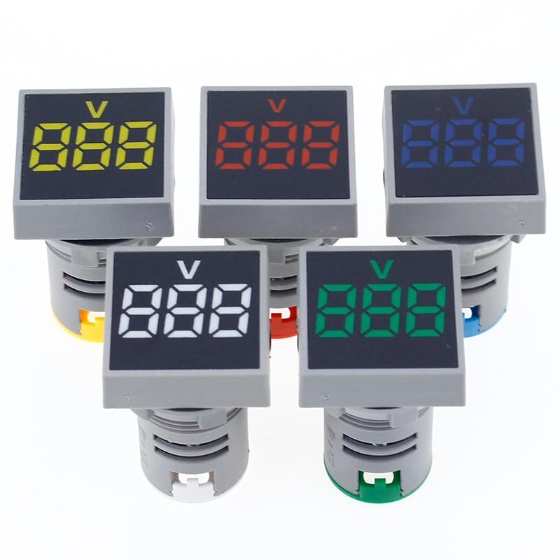 22MM 0-100A Digital Ammeter Current Meter/Voltage Meters Indicator Led Lamp Square Signal Light