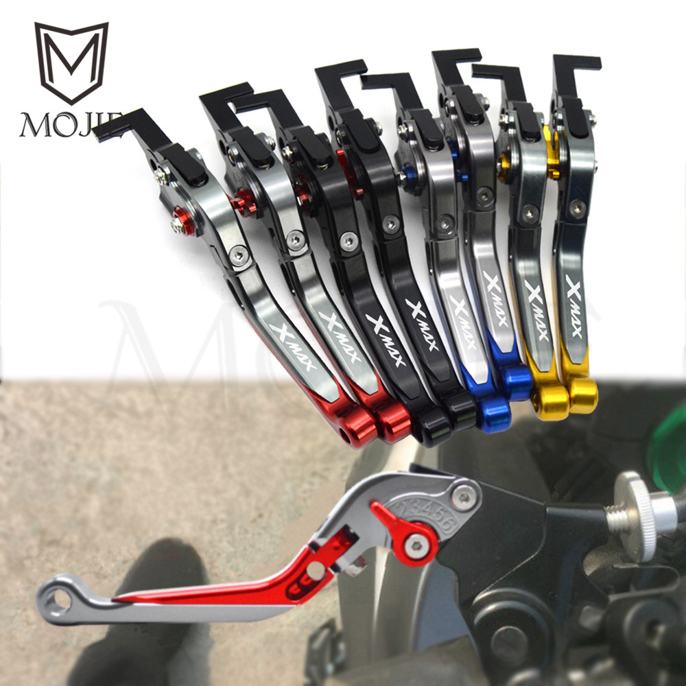 For YAMAHA XMAX 300 X-MAX X MAX 300 2016-2018 2017 CNC Aluminum Motorcycle Adjustable Folding Extendable Brake Clutch Levers Set sale for bmw k1200r sport k1200s motorcycle adjustable folding extending cnc pivot brake clutch levers aluminum moto accessory