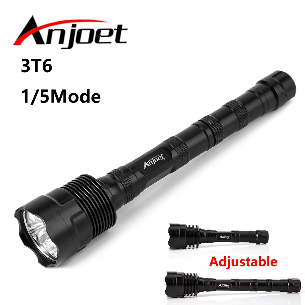 6000LM Tactical Flashlight 3X XML T6 3T6 LED Hunting Flashlight Lanterna Torch Light Lamp Switch Rifle Gun Mount  3X18650 3t6 led flashlight cree xml 5mode lamp waterproof lanterna tactical denfense torch with rechargeable 3x18650 battery and charger