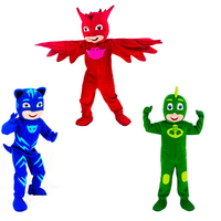 2017 New Mascot Costumes Parade PJ Masks Birthdays High Quality Connor Greg Amaya Mascot Cosplay Costumes