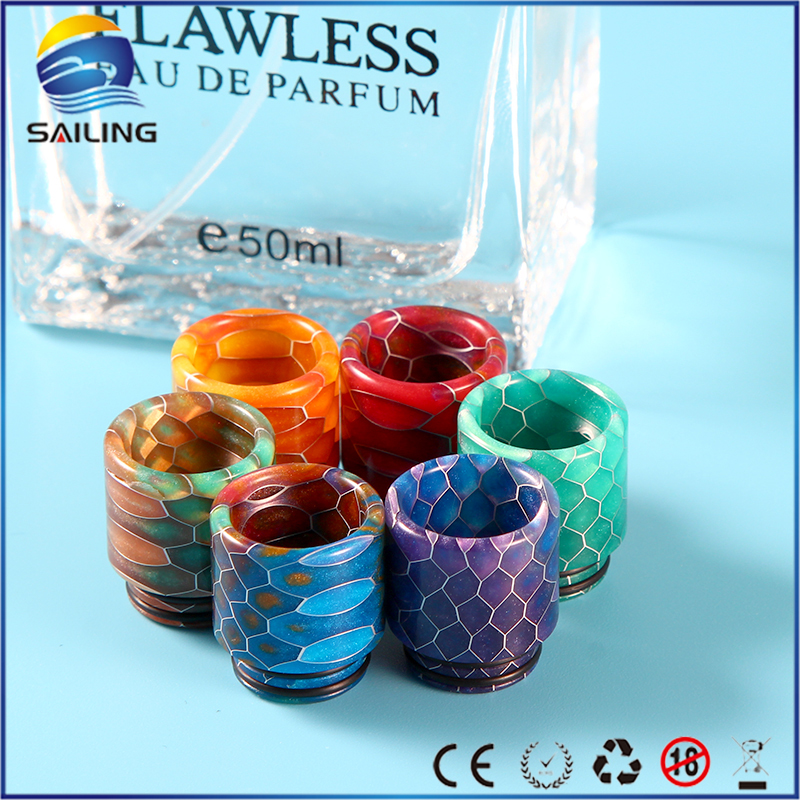 Sailing Snake Skin Pattern Epoxy Resin 810 Drip Tips for TFV8 Tornado Griffin 25 Atomizer Electronic