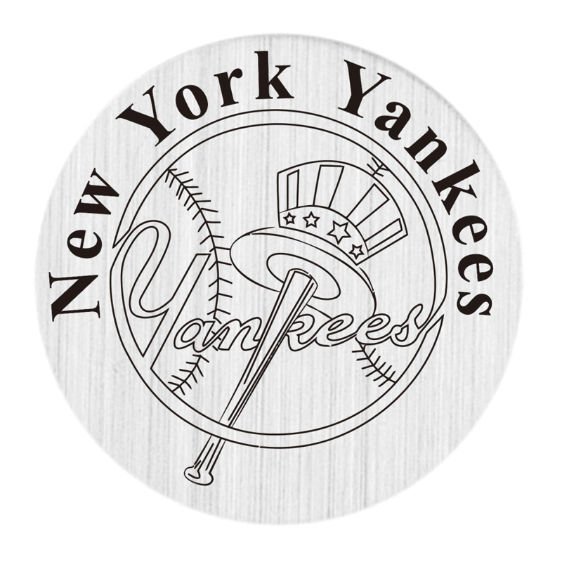 NY Yankees 22mm Stainless Steel Locket Window Plate Floating Charms Fit 30mm Glass Living Lockets 20pcs/lot