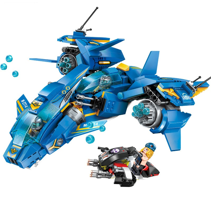 Enlighten Technic Air combat Fighter vehicle Building Blocks Sets Kits Bricks Classic Model Kids Toys Compatible Legoings NEXO чароит s