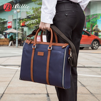 Genuine Leather Travel Handbag And Business Handbag Portable KUMON 15 Inch Laptop Bag For Macbook Pro