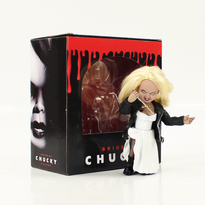 15cm NECA Bride of Chucky Child's Play Wedding Dress Ver. Chucky PVC Figure Toy Brinquedos Collectinble Model Toy Good Guys elsadou neca chucky action figurs child s play doll with retail box 15cm