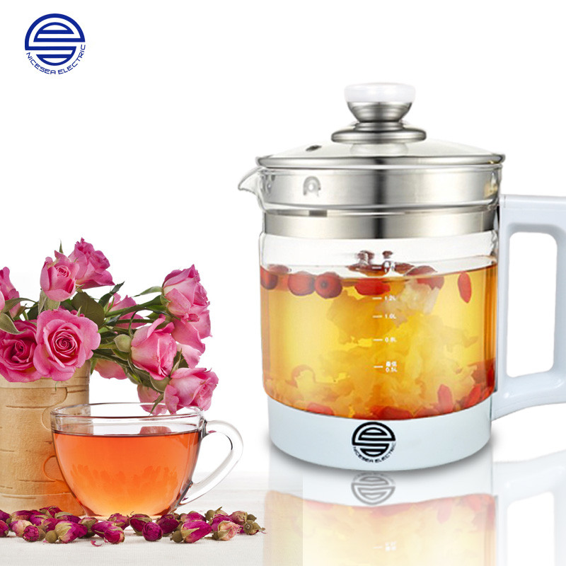 110V 1.8L Multifunction Health Preserving Pot Electric Kettle Electric Cooking Pot Anti Dry Boiling Teapot English Button cooking well prostate health