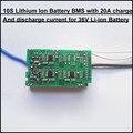 Inteligente e pequeno 36 V 10 S bateria de iões de lítio e PCB BMS para 42 V bicicleta elétrica da bateria li-ion pack com 20A de corrente constante
